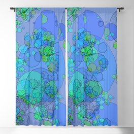Bubbles: abstract digital art fashionable modern colors Blackout Curtain