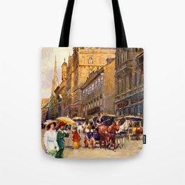 Great vintage belle epoque scene Vienna Austria  Tote Bag