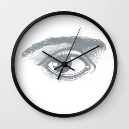 I see you. Gray on White Wall Clock