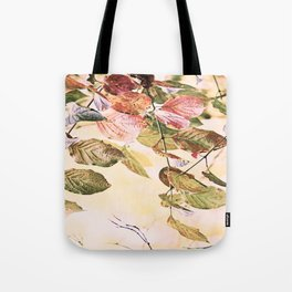 Pastell Leaves  Tote Bag