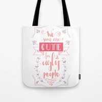 lettering Tote Bags featuring Lettering - Juno by aysenur