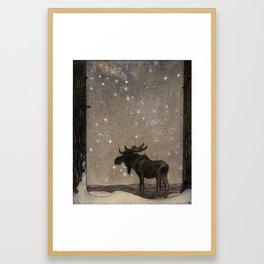 John Bauer - the elk Framed Art Print