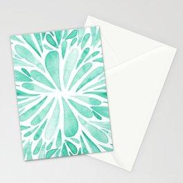 Symmetrical drops - aqua Stationery Cards