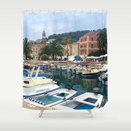 Hvar Marina Shower Curtain