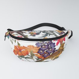 Floral and Birds XXXIII Fanny Pack