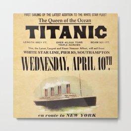 White Star Line Vintage Poster Advertisement Metal Print