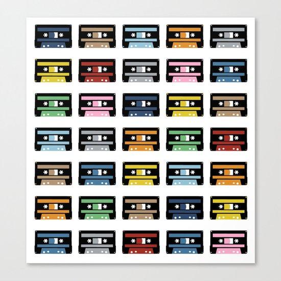 Rainbow Black Tapes Canvas Print