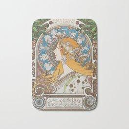 HD- Alphonse Mucha - Zodiac / HIGH DEFINITION Bath Mat