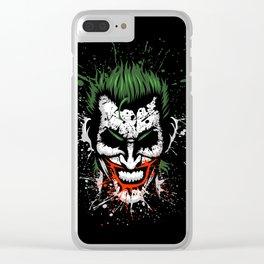 Splatter Joke Clear iPhone Case