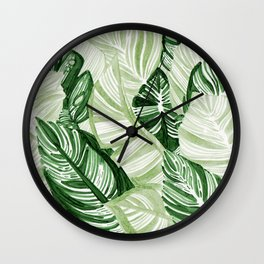 Assorted Leaves Wall Clock