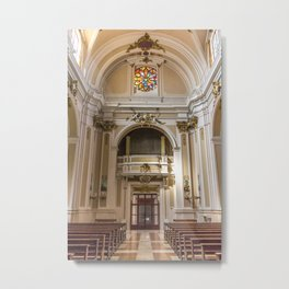 From The Main Altar - St. Justin Cathedral (Chieti, Italy) Metal Print