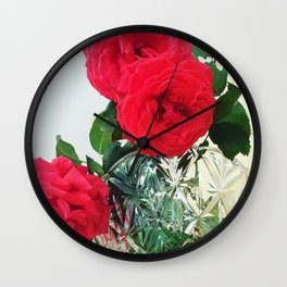 Garden Roses  Wall Clock