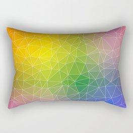 Triangulated Rainbow Background Pattern Rectangular Pillow