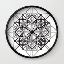 Interlock Mandala 3 Wall Clock