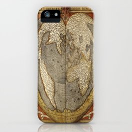 Heart-shaped projection map iPhone Case