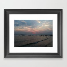 West Neck Sunset Framed Art Print