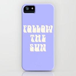 follow the sun - purple iPhone Case