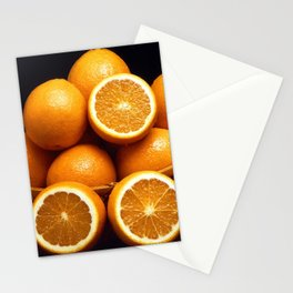 Sweet Oranges Whole and Halved Stationery Cards