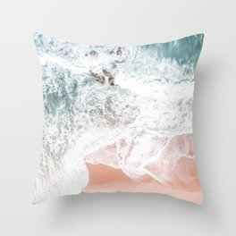 Sands of Coral Haze Throw Pillow