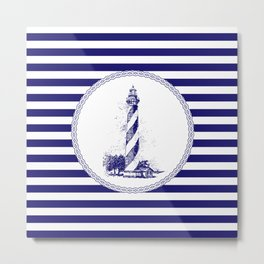 Marine - lighthouse Metal Print