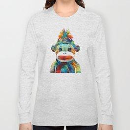 Sock Monkey Art - Your New Best Friend - By Sharon Cummings Long Sleeve T-shirt