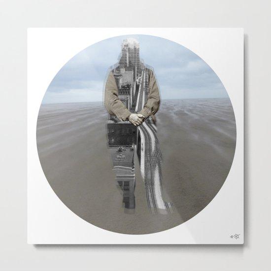 Sea Side Impression - 3 Metal Print