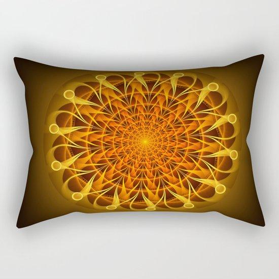 The mandala of energy Rectangular Pillow