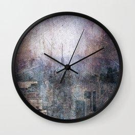Painted City of Dreams Wall Clock