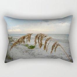 Sunset with Sea Oat Rectangular Pillow
