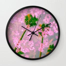 Palm Blossoms v3 Wall Clock