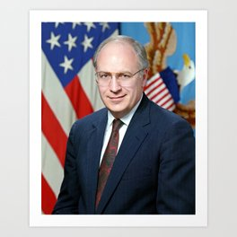 Official portrait of Secretary of Defense Richard B. Cheney Art Print