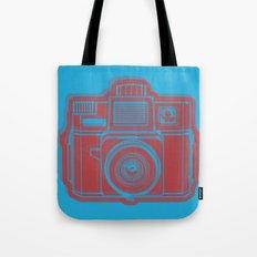 I Still Shoot Film Holga Logo - Blue & Red Tote Bag