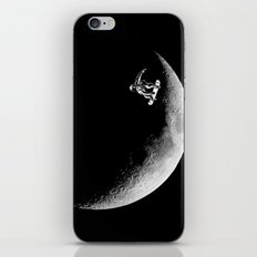 Moon boarder iPhone & iPod Skin