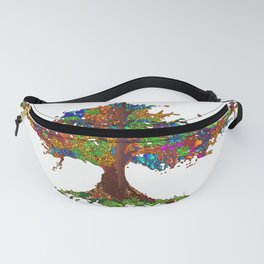 The Stained Glass Tree Fanny Pack