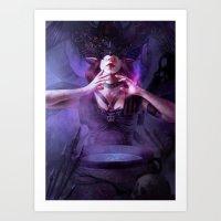 alchemy Art Prints featuring Alchemy by aStripedUnicorn
