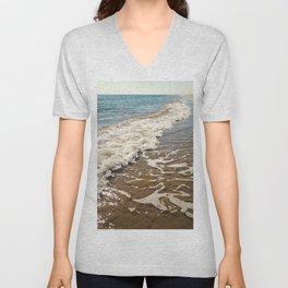At the beach Unisex V-Neck