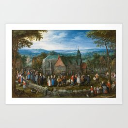BRUEGHEL EL VIEJO, JAN Bruselas, 1568 - Amberes, 1625 Country Wedding Ca. 1612 Art Print