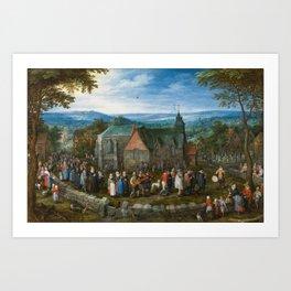 BRUEGHEL EL VIEJO, JAN Bruselas, 1568 - Amberes, 1625 Country Wedding Ca. 1612 Art Print