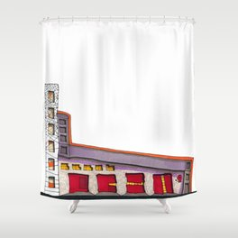 Geometric Architectural Design Illustration 99 Shower Curtain