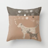 labrador Throw Pillows featuring Labrador dogs by My Studio