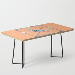 Sparrow Mahjong in Orange Coffee Table
