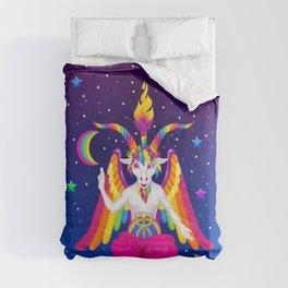 1997 Neon Rainbow Baphomet Comforters