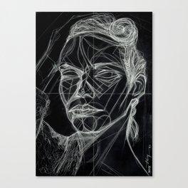 Donna Enigmatica #5; Vivien Solari #1 (B) - Artist: Leon 47 ( Leon XLVII ) Canvas Print