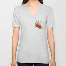 Light Grey/Cinnamon Cockatiel Unisex V-Neck
