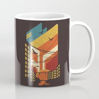 street art Mugs featuring Street by The Child
