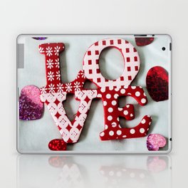 LOVE photography print Laptop & iPad Skin