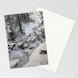 Entrance to Maligne Canyon Icewalk, Jasper National Park Stationery Cards