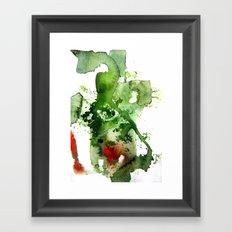 Watercolor Green Framed Art Print