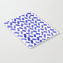 Cute watercolor knitting pattern - blue Notebook
