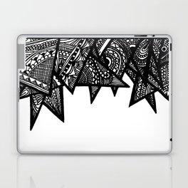 Triangle Henna Print- B+W Laptop & iPad Skin